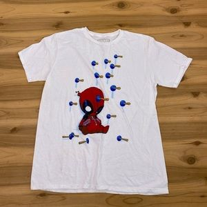 Marvel deadpool funny toilet plunger tee shirt